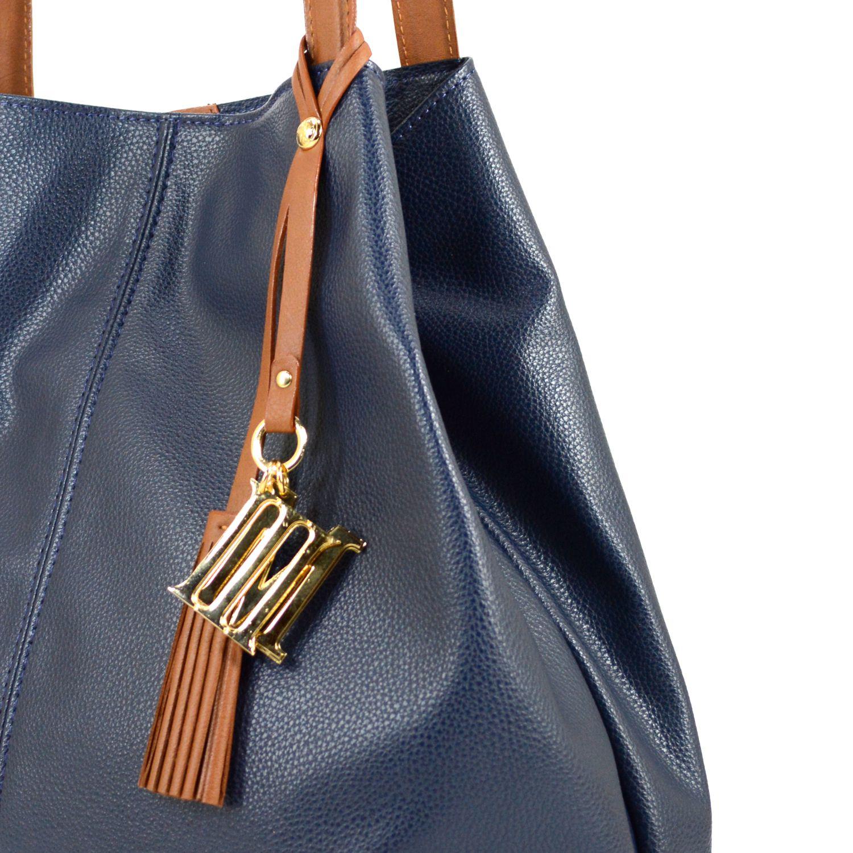 bolso azul cartera