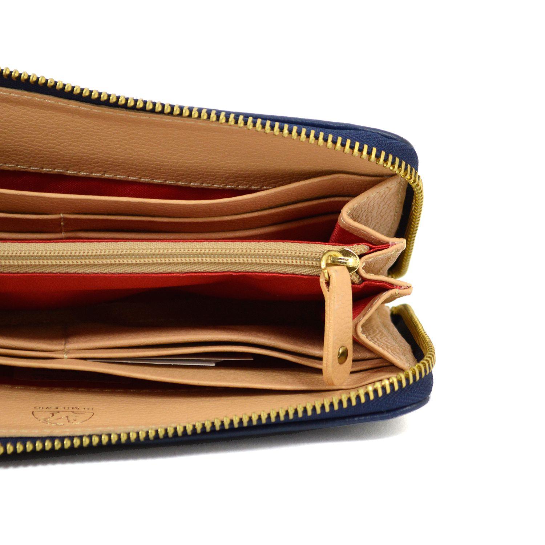 Billetera Azul en cuero